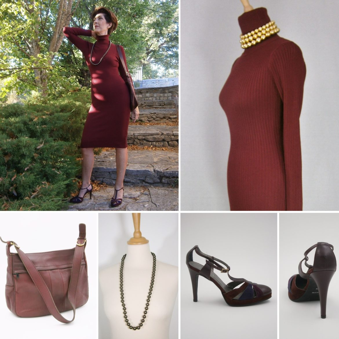 Total look bordeaux Ma fripe chic